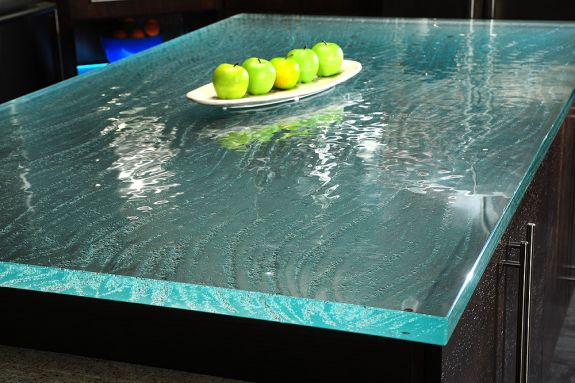 Options for kitchen countertop surface material 4 uk shops for Tempered glass countertop